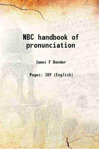 NBC handbook of pronunciation [Hardcover]