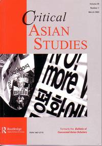 image of Critical Asian Studies - Volume 35, Number 1, March 2003