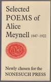 View Image 1 of 2 for Selected Poems of Alice Meynell 1847-1922 Newly Chosen Inventory #446703