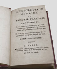 Encyclopedie Comique ou Recueil Francais, vol 3 only