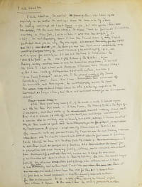 Autograph Manuscript of his review of Edith Wharton's autobiography (A Backward Glance), entitled A Fiend for Destiny