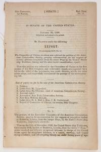 image of Mr. Baldwin made the following report: (To accompany bill S. No. 4)... [Request by the American Colonization Society for remuneration to cover the expenses of resettling children captured from the slaver ship Pons]