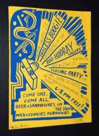 Carl Johan De Geer and The Swedish Underground '64-'76, SIGNED Large Closing Party Announcement