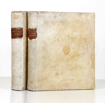23 folding engraved plates. 2 p.l., xxviii, 484 pp.; 1 p.l., 492 pp. Two vols. Large 4to, cont. vell...