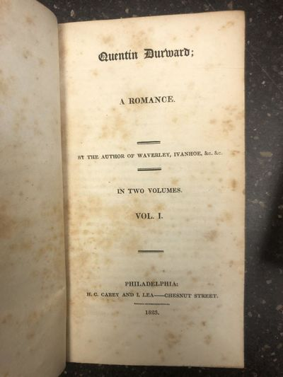 Philadelphia, PA: H. C. Carey and I. Lea, 1823. First U.S. Edition. Hardcover. Octavo, 271 pages; VG...