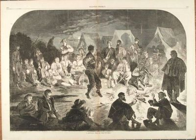 Fine Condition. Original wood engraving from Harper's Weekly, December 21, 1861. Sheet measures 22 b...