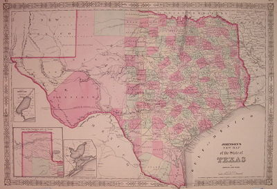 New York: Johnson & Ward, 1864. unbound. very good(+). Map. Engraving with original hand coloring. I...