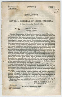 Resolutions of the General Assembly of North Carolina, in favor of reopening Roanoke inlet. January 29, 1841.