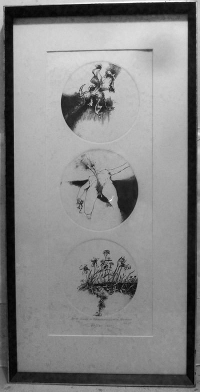 NP: NP, 1972. First edition. Hardcover. Fine etched circular triptych, 24 x 9 inches, neatly matted ...