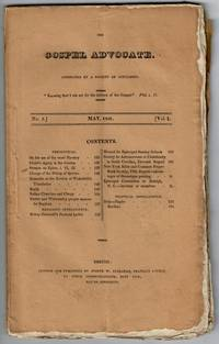 The Gospel Advocate. Conducted by a Society of Gentlemen. Volume I, no. 5 to Volume II, no 12