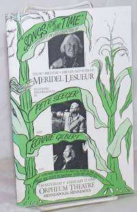 """image of Songs for Our Time"""": A Concert in Celebration of the 90th Birthday [and] the Life and Work of Meridel Le Sueur, featuring performances by Pete Seeger and Ronnie Gilbert"""