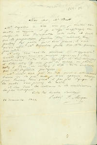 Autograph letter signed to John Brett, with Brett's autograph reply