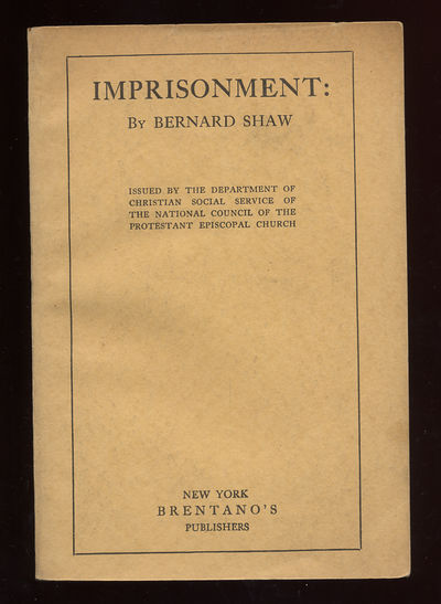 New York: Brentano's, 1924. Softcover. Very Good. First American edition. Tape shadows on the inside...