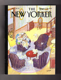 """The New Yorker - October 15, 2018. J.J.Sempe Cover, """"Reading Group"""". The Great Awakening (China); Kavanaugh Debacle; Trump Enigma Machines; Ivy League; Luca Guadagnino; Frederick Douglass; Pillocars; First Man; Nora Chipaumire"""