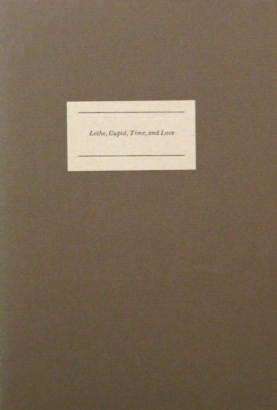 Candia: John LeBow, 1994. First edition. Paperback. Fine. 8vo. One of 150 SIGNED copies in sewn wrap...
