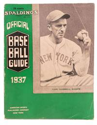 SPALDING'S OFFICIAL BASE BALL GUIDE.  Sixty-first Year.  1937.; Spalding's Athletic Library.  No. 100x.  Price 35 cents