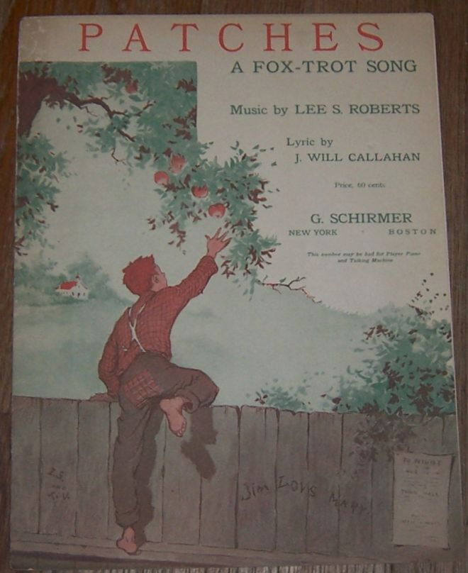 PATCHES A Fox Trot Song, Sheet Music
