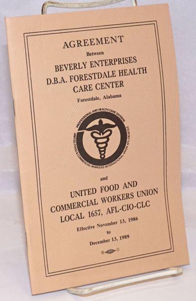 Birmingham, AL, 1987. 21p., staplebound booklet, very good.