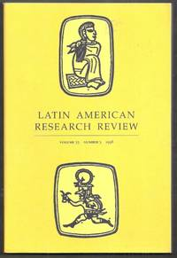 Latin American Research Review. Volume 33, Number 3, 1998