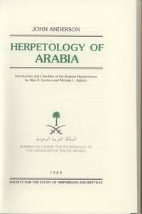 Contribution to the Herpetology of Arabia