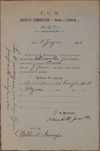 "F. G. N. SOCIETA GINNASTICA ""FORZA E LIBERTA"" RIETI 1903"