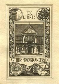 Bookplate of Arthur Edward Andersen.