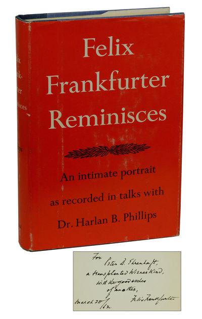 New York: Reynal & Company, 1960. First Edition. Hardcover. Near Fine/Very Good+. Warmly inscribed b...