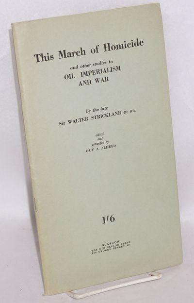 Glasgow: The Strickland Press, 1942. 61p., very good in staplebound wraps. Undated, but advertisemen...