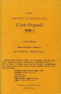 image of The Short Stories of F. Scott Fitzgerald [Proof Copy]; A New Collection