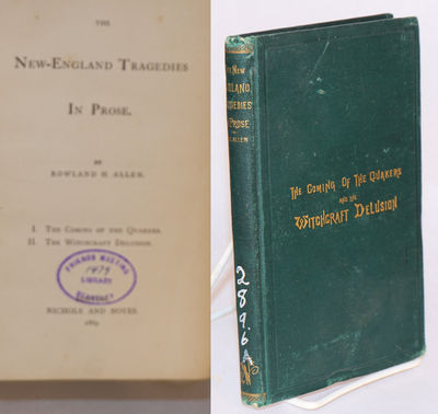 Boston: Nichols and Noyes, 1869. Hardcover. 156p., hardbound first edition in 7.5x4.5 inch green clo...
