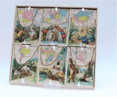 Puzzle Of The Six Continents, Circa 1900
