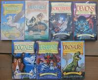 """Jack Dann's Magic Tales Anthologies:  1st book - Bestiary; 2nd book - Mermaids; 3rd book - Sorcerers;  4th book - Demons; 5th book - Dogtales; 6th book - Seaserpents; 7th book - Dinosaurs;   -(seven soft covers in the """"Magic Tales"""" Anthology series)-"""
