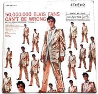 image of Elvis Presley Gold Records Volume 2 50,000,000 Elvis Fans Can't Be Wrong LP