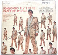 Elvis Presley Gold Records Volume 2 50,000,000 Elvis Fans Can't Be Wrong LP