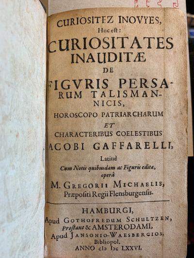 Hamburgi; Amsterodami: Apud Gothofredum Schultzen; Janssonio Waesbergios, 1676. Later Edition/First ...