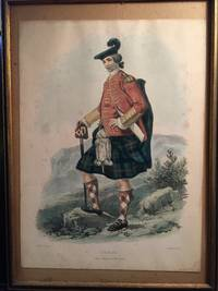 "L. Dickinson Hand Colored Lithograph ""Ulric"" Scottish Highland Clan"