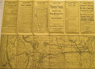 UNRECORDED 1874 RAILROAD MAP