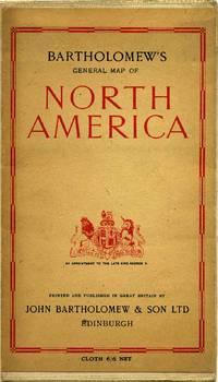BARTHOLOMEW'S GENERAL MAP OF NORTH AMERICA.