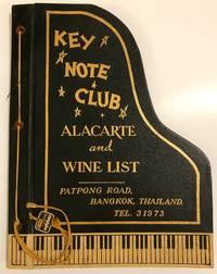 [MENU] Key Note Club A La Carte and Wine List