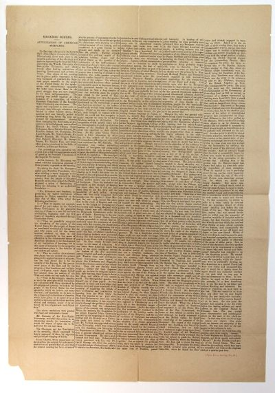 : Japan Times, 1904. Large broadside, approx. 21