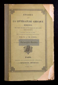 Études sur la littérature grecque moderne