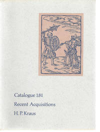 Catalog 181, Recent Acquisitions