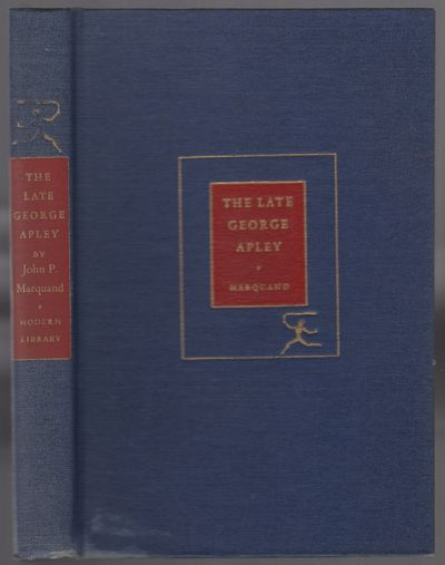 New York: Modern Library, 1940. Hardcover. Very Good. Reprint. 354, pp. Navy cloth boards with red a...