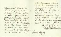 Autograph letter signed to [Jabez] Hogg, discussing microbiology