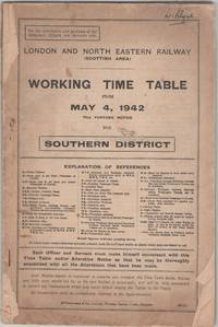 Working Time Table Scottish Area Southern District from May 4, 1942 till further notice