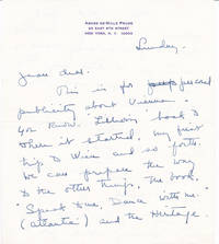 image of THREE-PAGE AUTOGRAPH LETTER TO PRODUCER JEAN DALRYMPLE SIGNED BY AMERICAN CHOREOGRAPHER AGNES DE MILLE.