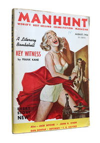MANHUNT (August, 1956 Vol. 4, No. 8) by Harlan Ellison - Paperback - First Edition - 1956 - from Astro Trader Books (SKU: 1000-641)