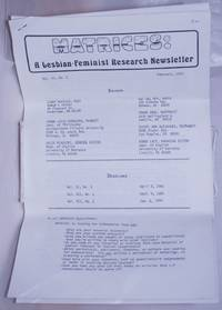 image of Matrices: a lesbian/feminist research newsletter, vol. 6, #2, October 1982