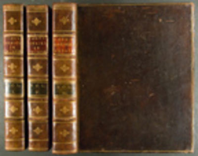 London: H. Hughs for G. Nicol and T. Cadell, 1785. 4 volumes (Text: 3 vols., quarto ; Atlas vol. of ...