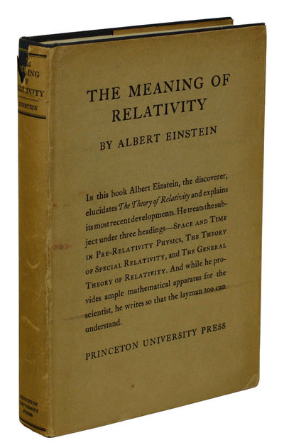 Princeton: Princeton University Press, 1923. First Edition. Hardcover. Very Good. First American edi...